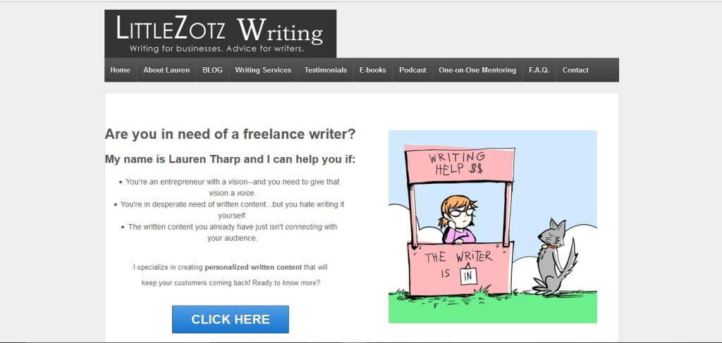 Storytelling on the Little Zotz homepage