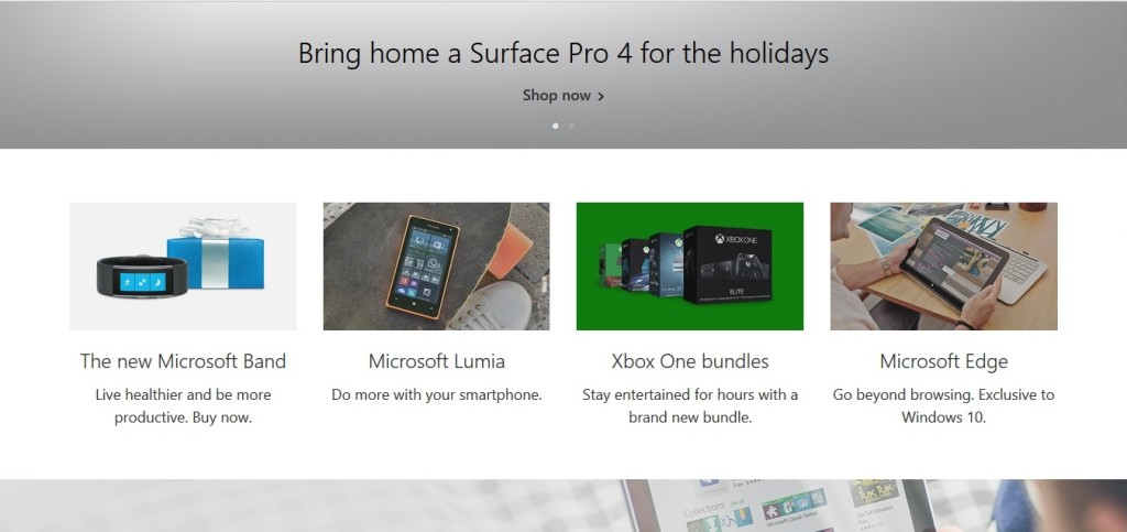 Storytelling on Microsoft's home page
