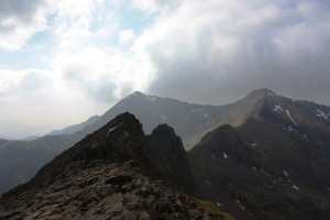Crib Goch, with the Snowdon summit in the background